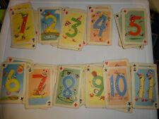 Vintage Crazy Eights Card Game - well loved - missing 1 card #8