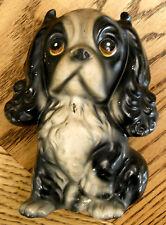 Brinn's Pittsburgh Cocker Spaniel Figurine Paper Label Collectible Porcelain Dog