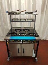 Commercial Gas cooker 5 Burner Gas COOKER 1 Oven+solid top Natural or LPG
