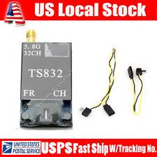 Boscam TS832 40Ch 5.8GHz 600mw 5km Wireless AV TX FPV Transmitter w/ 2 AV Cable