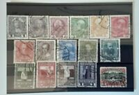 Austria 1908 - 60th Anniversary Emperors Succession 16 used stamps SG189-204