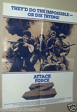 ATTACK FORCE Z {Mel Gibson} Original Movie Programs/Poster 80s