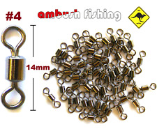 50 ROLLING FISHING SWIVELS SIZE #4 / TEST-35kg Bream Whiting Flathead BULK