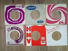 """vinyl 7""""company record sleeves x6"""