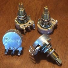 (4) Gibson 300k Long Audio Taper Pots / Potentiometer / MATCHED Set / NOS