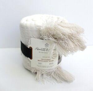 Hearth & Hand with Magnolia One Textured Matelasse Fringe Standard Sham Cream
