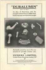 1916 Vickers Duralumin Ad