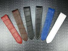 New 23mm Leather Strap Extra Large for Fits CARTIER SANTOS 100 Watch Band XL x1