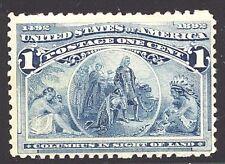 #230 F-VF MNH OG-1¢ COLUMBIAN-Deep Color and Fresh stamp (REM #230-043)