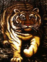 Kuscheldecke Tagesdecke Wohndecke Decke Plaid Motiv Tiger 160x200cm