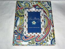 VERA BRADLEY MARINA PAISLEY PHOTO FRAME HOLDS 4 X 6 PICTURE NIP w/DEFECT