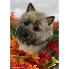 Fall House Flag - Brindle Cairn Terrier 13326