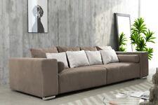 Modernes Schlafsofa Sofa Couch Big Sofa in braun Schlaffunktion - Athen