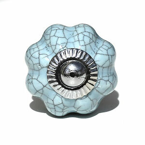 Small chic cupboard door knobs handles drawer pulls. Ceramic knobs and glass