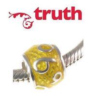 Genuine TRUTH PK 925 sterling silver enamel number 6 charm bead, 6th anniversary