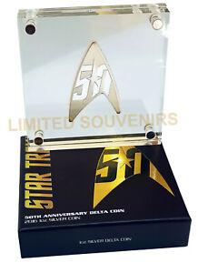 2016 $1 50th Anniversary Of Star Trek Delta 1oz 99.99% Silver Proof Coin NEW COA