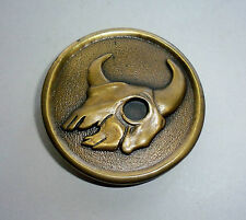 Steer Animal Skull Belt Buckle-Dege Designs-Vintage-Indiana Metal Craft