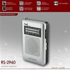 Radio Bolsillo - AM/FM - Clip Trasero - Altavoz Interno - Auriculares Incluidos
