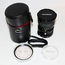 Quantaray 28-85mm f3.5~4.5 Canon Lens with 1A filter, Case Strap, 2 filter cases
