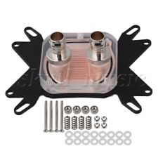 1 pcs CPU Water Cooling Block Waterblock 50mm Copper Base Cool Inner Channel