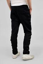 FAITH CONNEXION black cotton lace up jogger pants sweatpants trousers L Large