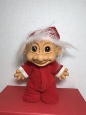 Russ Troll Doll 8� Baby Boy Santa In His Christmas Pjs Russ On Bottom Of Feet
