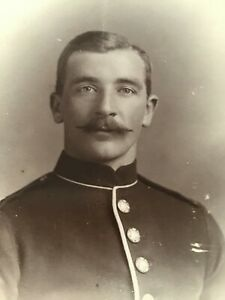 CC GAY INT. VGL Young Ginger MILITARY MAN c 1890s Cabinet PHOTO 15/9