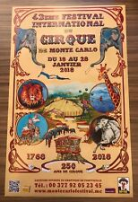42nd International Circus Festival of Monte-Carlo 2018 Promotional Poster - New