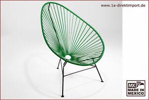 Original Acapulco Chair aus Mexiko - grün schwarz - mexikanischer Kult Sessel