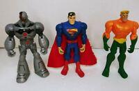 "DC Batman Brave and the Bold AquaMan,Superman,Cyborg 5"" Figure Lot # 3"