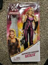 Mattel WWE Superstars Fashions Natalya Doll w glitter Dress