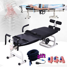 Therapy Massage Bed Table Cervical Spine Lumbar Traction Body Stretching Machine