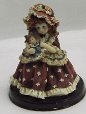Little Girl Best Sunday Dress With Doll Figurine Decorative Ornament Fine Detail