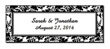 60 Personalized Damask Glossy Wedding Address Bubble Favor Labels Stickers