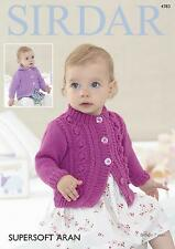 Sirdar 4783 Knitting Pattern Baby Chiildrens Cardigans in Sirdar Supersoft Aran