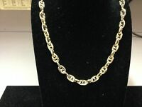 10k Solid Yellow Gold Fashion Anchor Mariner chain/necklace 8 MM 80 Grams 22""