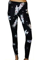 GOTHIC LADIES WOMENS CUTE CAT KITTEN KITTY TATTOO PRINT LEGGINGS GOTH PUNK EMO
