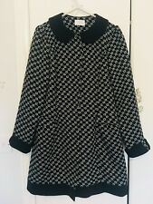 Dunnes Stores, Savida, Black and White, Scalloped Print Coat, UK 10, EU 38, US 6
