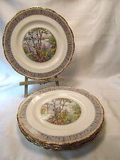 Royal Albert Bone China England SILVER BIRCH Five (5) Dinner Plates REDUCED