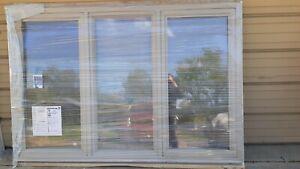 """NEW: Huge Jeld-Wen Home Vinyl PICTURE WINDOW w/ SIDE-CASEMENT (88""""x58"""")"""