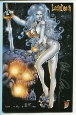 LADY DEATH Icon #1 SLY Variant Cover by Philip Xavier Signed Brian Pulido /88