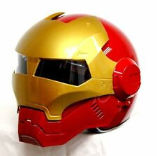 Masei 610 Red Gold IronMan Motorcycle Bike Chopper  Helmet iron ORIGINAL