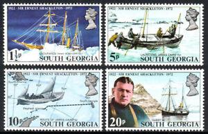 Du Sud Géorgie 31-34, Mnh.sir Ernest Shackleton, Explorer De Antarctica.ships,