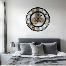 Moderne Zuhause Quarzuhr Dekoration Vintage Zahnrad Wanduhr Wanduhren Uhr Ø40cm
