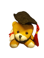SMALL FUR BROWN COLLEGE UNIVERSITY GRADUATION TEDDY BEAR WITH DIPLOMA GIFT IDEA