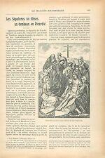 Ensevelissement de Jésus Jan van Eyck/La Sépulture de Dürer GRAVURE PRINT 1913