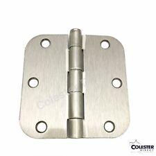 "Qty 30 Satin Nickel Interior Door Hinge 3.5"" x 3.5"" with 5/8"" radius 3 1/2 inch"