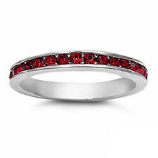 3mm Channel Set Full Eternity Wedding Ring CZ Sterling Silver Choose Color