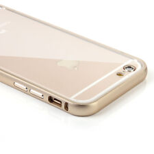 Ultra-Thin Aluminum Metal Bumper + Clear Back Case Cover Skin for iPhone 6 4.7""