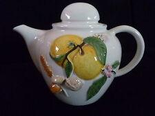 Verseuse à café ou thé esprit barbotine décor fruits